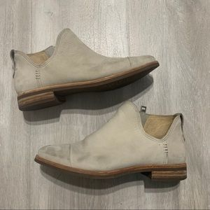 Timberland Gray Taupe Leather Booties Sz 6